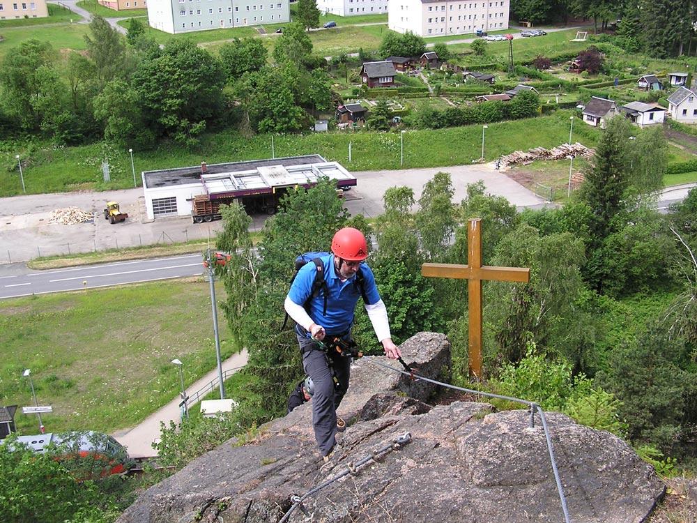 Klettersteig Erlabrunn : Klettersteig walter keiderling tour