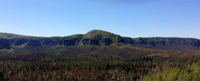 Blick vom Rabentürmchen zum Kleinen Winterberg