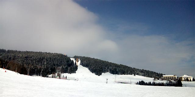 Oberwiesenthal - Blick zum Fichtelberg