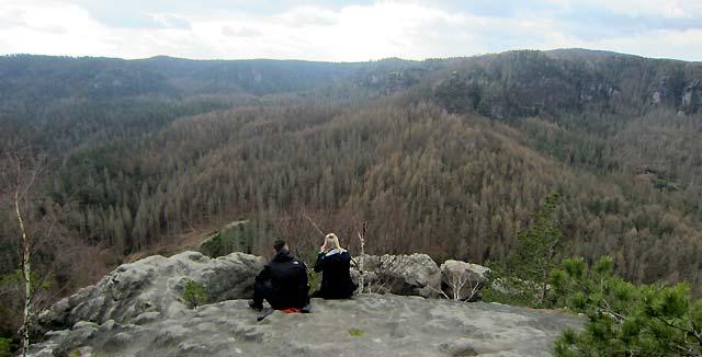 Blick vom Großen Teichstein