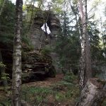 Begangsteig - Loch im Felsen