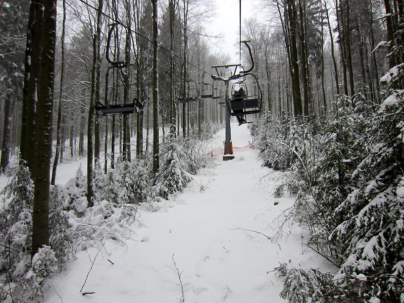 der einzige Sessellift des Osterzgebirges in Rehefeld