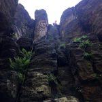 Blick in den Alten Weg I am Castello