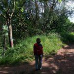 im Schilderwald (links) auf der Suche nach dem Kyffhäuserweg