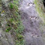 Einstieg in das Steilstück der Zwillingsstiege