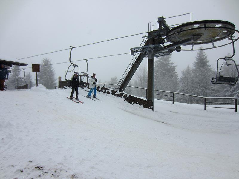 relativ viel Schnee bei allerdings nicht präpariertem Hang am 07.02.