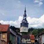 der schiefe Turm der Oberkirche in Bad Frankenhausen