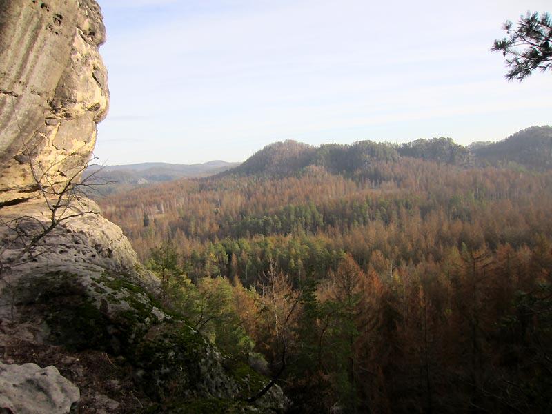 Blick in den Großen Zschand vom Kleinen Lorenzstein aus