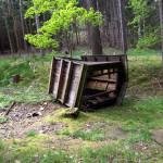 umgerissene Schutzhütte