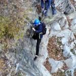 Klettersteig Riesenboulder - Einstieg