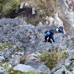 Klettersteig Riesenboulder - Steilstück