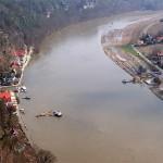 während des Hochwassers 2006