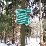 Wegweiser auf dem Pfaffenstein