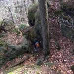 Abstieg zum Wanderweg