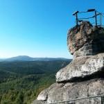 Gipfel des Pfaffensteins (Lausitzer Gebirge)