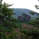 Blick über die Breite Kluft zu Rauschenstein und Großem Winterberg im Hintergrundnen