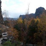 Blick vom Kletterfelsen Knabe auf die Schrammsteine