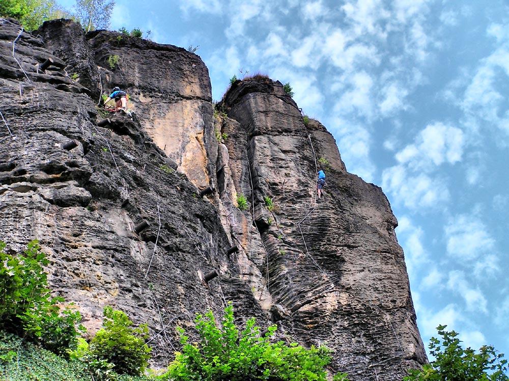 Klettersteig Franken : Zur vorbereitung der kommende klettersteigsaison ruebezahlstiege
