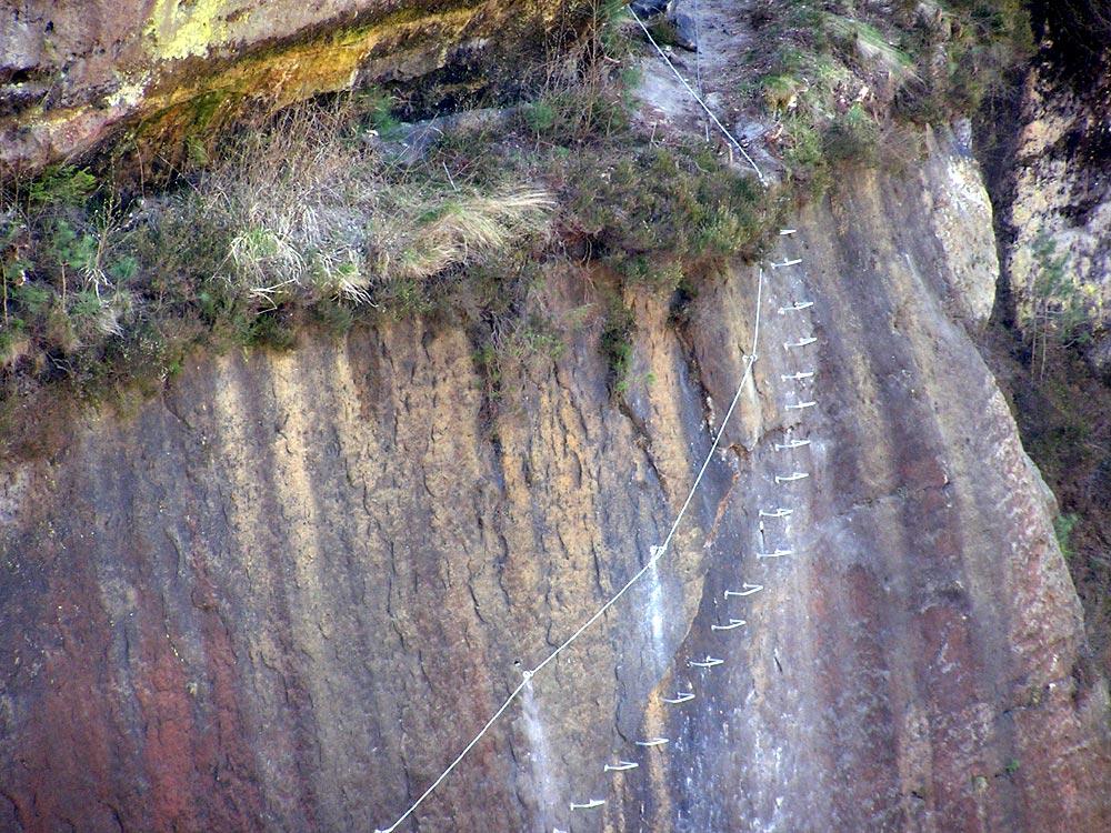 Klettersteig Sächsische Schweiz : Zur vorbereitung der kommende klettersteigsaison ruebezahlstiege