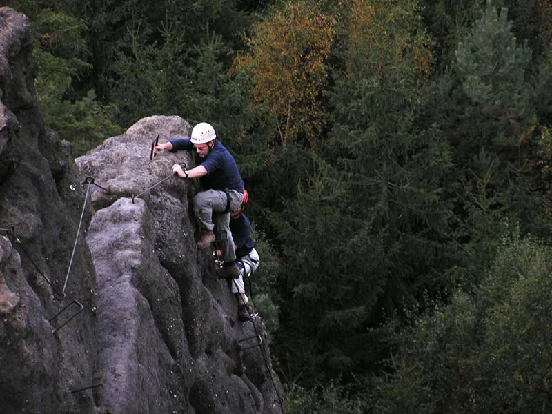 Klettersteig Zittauer Gebirge : Klettersteig alpiner grat im zittauer gebirge
