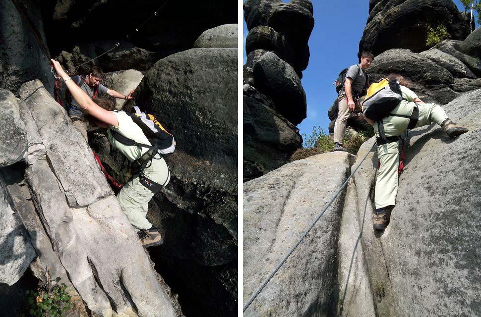 Klettersteig Zittauer Gebirge : Klettersteig nonnensteig im zittauer gebirge