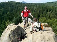 Klettersteig Jonsdorf : Zittauer gebirge klettersteig nonnensteig herbst