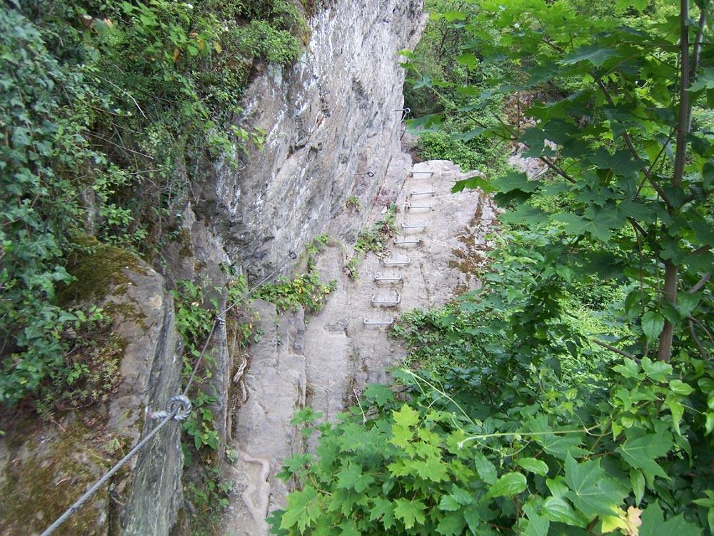 Klettersteig Boppard : Mittelrhein klettersteig boppard