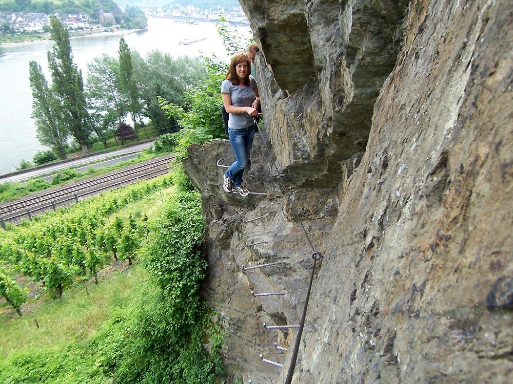 Klettersteig Rhein : Mittelrhein klettersteig boppard